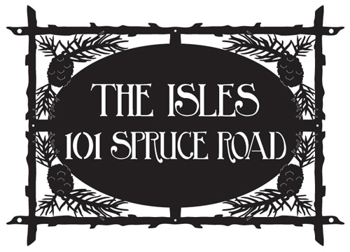 The Isles Address Sign
